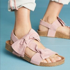 Jeffrey Campbell Suede Bow Sandals